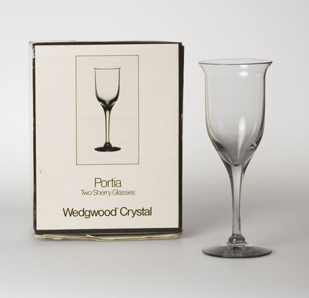Wedgwood Portia Frank Thrower sherry glasses