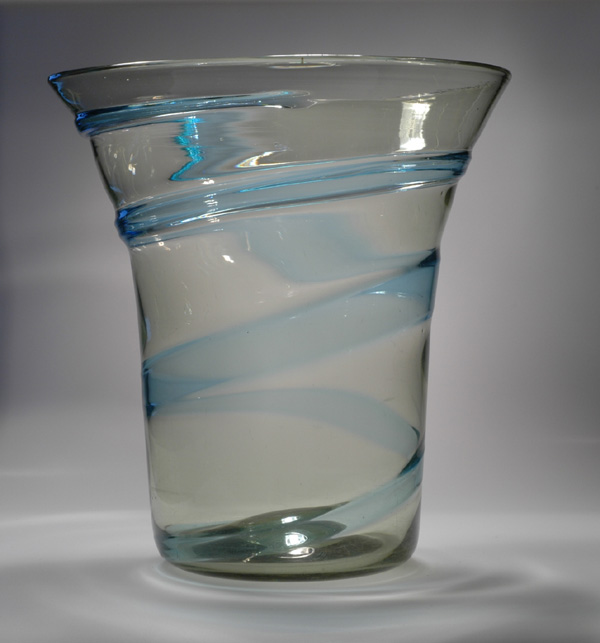 Whitefriars ribbon glass vase