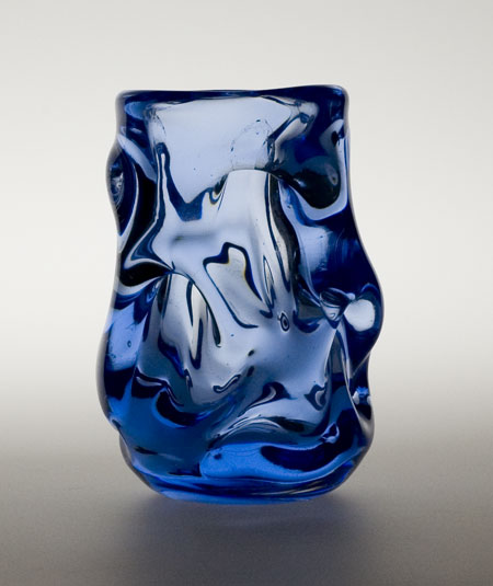 Whitefriars knobbly glass vase