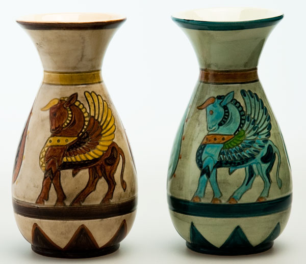 Style And Design Sylvac Pottery Vases 4693 Based On Winged Bull