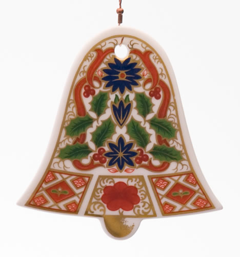 Royal crown derby bell christmas decoration for Christmas crown decoration